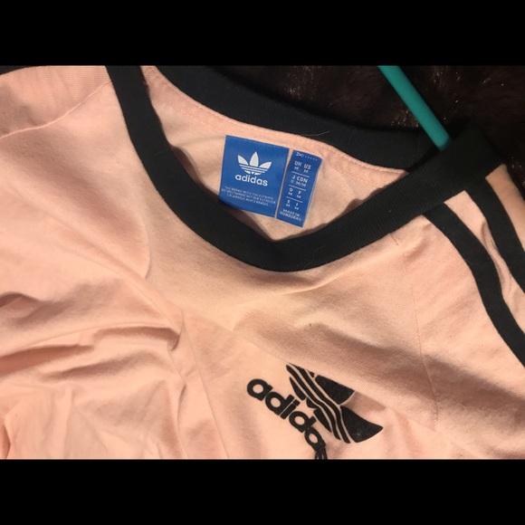 Pink Adidas 3 Stripe Shirt | Poshmark